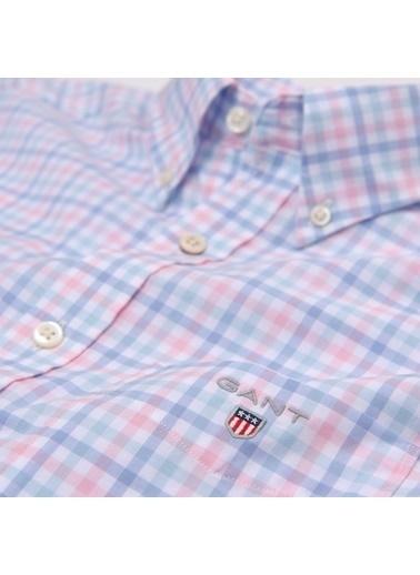 Gant Kareli Regular Gömlek Pembe